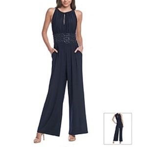 NWT Jessica Howard Missy Cocktail Navy Jumpsuit